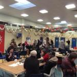 Busy Christmas Dinner at The Macolm X Community Centre in St Pauls, Bristol